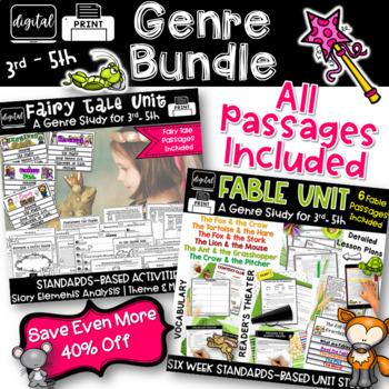 Fables & Fairy Tales 3rd Grade 4th Grade RL3.2 RL4.2 RL5.2 RL3.3 RL4.3