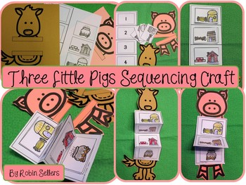 Fable & Fairy Tales Retelling Sequencing Crafts *Gingerbread Red Hen Three Pigs