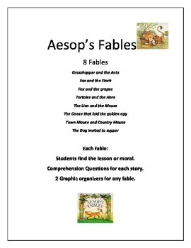 9 Fable and Traditional Literature Stories and Activties