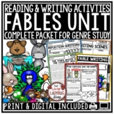 Aesop's Fables Unit Activities- Reading Graphic Organizers Student Fable Writing