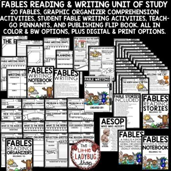 Aesop's Fables Activities: Reading Graphic Organizers & Student Fable Writing