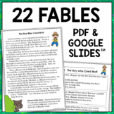 1st & 2nd Grade Digital Reading Passages: Aesop's Fables {