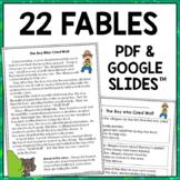 1st & 2nd Grade Digital Reading Passages: Aesop's Fables {Google Slides™ & PDF}