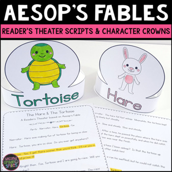 Aesop's Fables Readers Theater (Scripts & Character Crown Costumes)