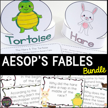 Aesop's Fables Close Reading, Literacy Centers, & Readers Theater Bundle