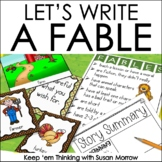 Fables Activities - Let's Write a Fable Writing Center