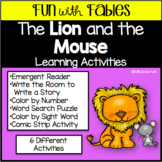 Fables Activities The Lion and the Mouse Emergent Reader a