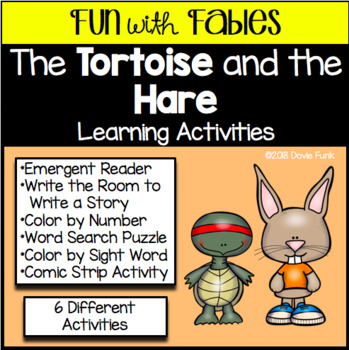 Fables Activities The Tortoise and the Hare Emergent Reader and Writing