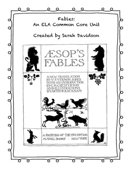 Fables: An ELA Common Core Unit