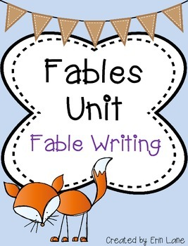 Fables: Fable Writing Pre-Write and Final Copy Paper Set