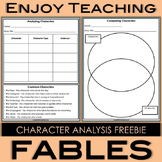 Fables Freebie - Analyzing and Comparing Characters
