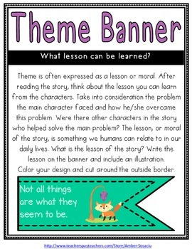 Fables Genre Study - Activities for Centers, Whole Group, or Take-Home Projects