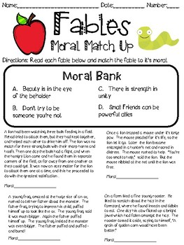 Fables: Moral Match Up