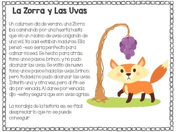 Fables Pack in Spanish * Paquete de Fabulas en Espanol
