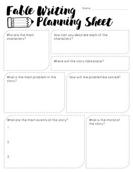 Fables Writing Project