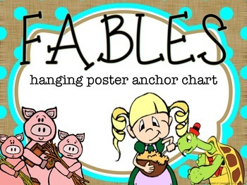 Reading Comp Hanging Poster {Fables}