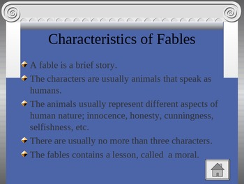 Fables Powerpoint Activity for Center Use