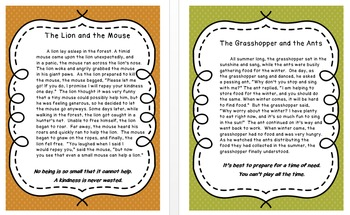 Fables Printable Mini-Posters