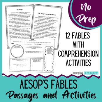 Fables Reading Passages Worksheets Teaching Resources TpT