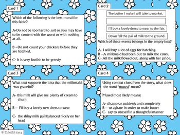 Fables SCOOT- Text Evidence, Sequencing, Moral, & Context Clues