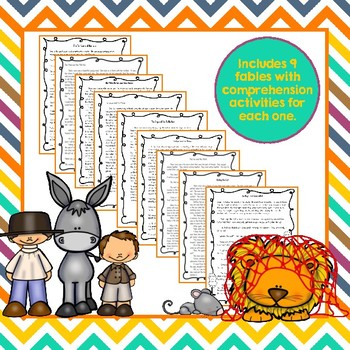 Fables 3rd Grade Common Core RL3.1 RL3.4 RL3.2 Bundle