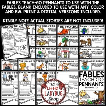 Aesop's Fables Unit of Study • Teach- Go Pennants™