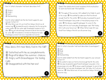 Fables Task Cards: 3rd Grade FSA Test Prep