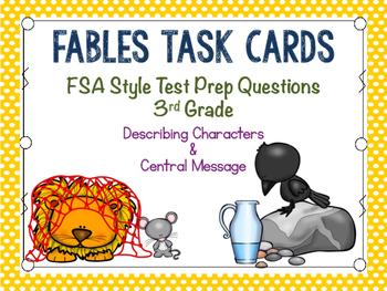 Fables Task Cards: 3rd Grade FSA Test Prep