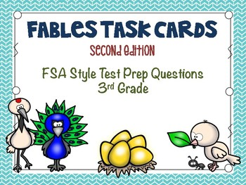 Fables Task Cards: 3rd Grade FSA Test Prep Second Edition
