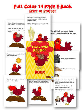 The Little Red Hen Fable Reading Comprehension Passage and Literacy Activities