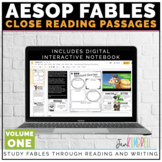 Aesops Fables Close Reading Passages | Distance Learning