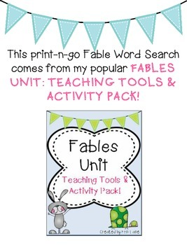 Fables Word Search FREEBIE!