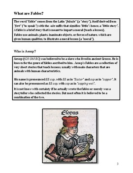 Fables - Write Your Own Fable