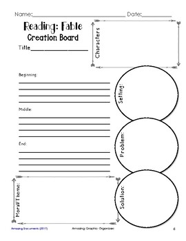Fables and Myths Graphic Organizers for Guided Reading