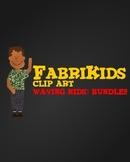 FabriKids Waving Clip Art Set BUNDLE!! - Kids and Students Waving