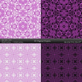 Fabric Album Collag Card Instant Download Ornate A4 Textile  Decoration Indian