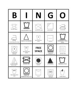 Fabric Care Symbols BINGO