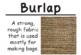 Fabric Science Vocabulary Cards (FOSS Fabric Module) Large