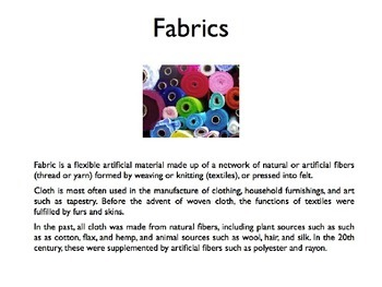 Fabrics and Finishes PowerPoint