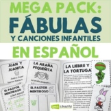 Fábulas y canciones infantiles - Mega Pack: Story Retell & Describing in Spanish