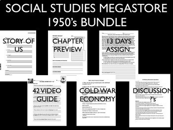 1950's - Cold War - Civil Rights - 42 Movie Guide - Bundle