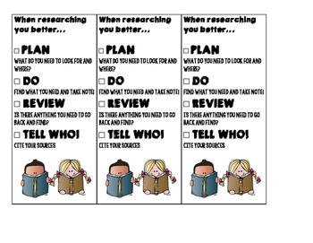 Fabulous 4 Research Reminder