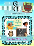 Fabulous 50's Faces Social Media Clip Art for TPT Sellers