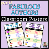 Fabulous Authors Classroom Posters - Free Independent Read