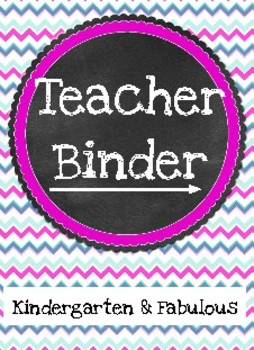 Fabulous Chevron Teacher Binder