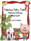Fabulous Fairy Tales Common Core Literacy & Math Mini Unit