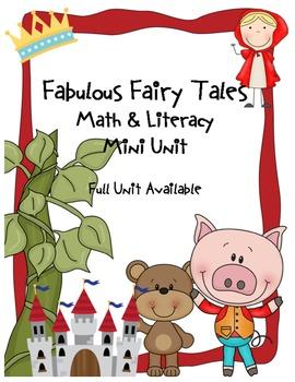 Fabulous Fairy Tales Common Core Literacy & Math Mini Unit