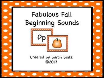 Fabulous Fall Beginning Sounds
