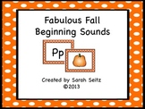 Fabulous Fall Beginning Sounds