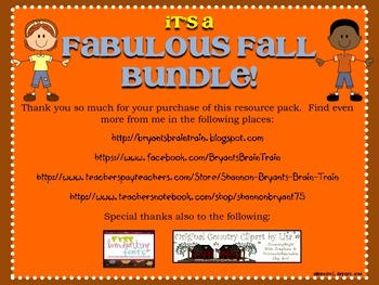 Fabulous Fall Bundle! (Fall, Thanksgiving, Veterans Day, and More)